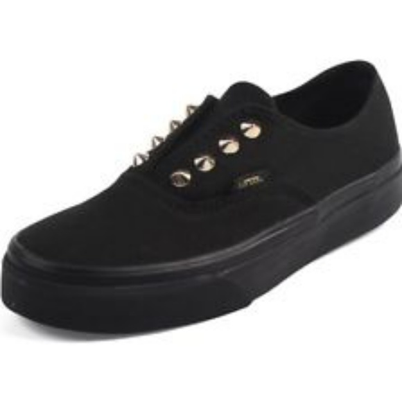 0e258ded506 Vans Toddler Black with Gold Studs Slip On 10.5. M 5bc3ca6d2beb79ddcfde885e